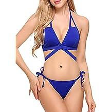 Swiftt Bikini Fashion Woman Stripe Sexy Costume Da Bagno Brasiliano 2 Pezzi Short Bikini Bikini Bretelle V Neck