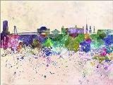 Posterlounge Forex-Platte 130 x 100 cm: Bratislava-Skyline von Editors Choice