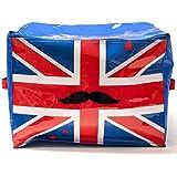 -Malle Coffre de rangement Design Drapeau UK Royaume Uni Bleu