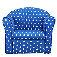 1home Kids Childrens with White Stars Fabric Tub Chair Armchair Sofa Seat Stool