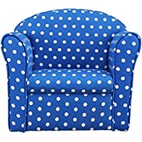 1home Kids Children's Navy with White Spots Fabric Tub Chair Armchair Sofa Seat Stool