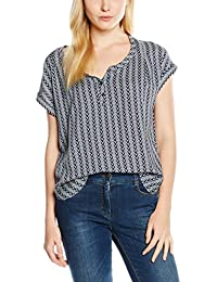 Tom Tailor Denim S-Less Printed Blouseshirt, Blouse Femme