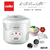 Cello Cook -N-Serve CNS-200 400-Watt Rice Cooker (White)