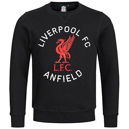 Liverpool FC Majestic Anfield Road Crew Felpa - Nero, M