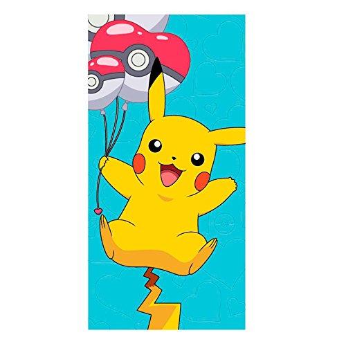 CERDA Serviette de plage Pokémon Pikachu Bleu Kid