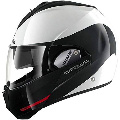HE9352EWKRM – Shark Evoline S3 Hakka Flip Front Motorcycle Helmet M White Black Red (WKR)