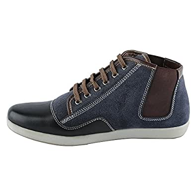 Mancini Men's Blue Leather Casual Shoes (450077678005) - 10 UK