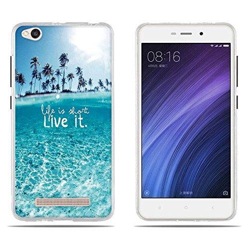 DIKAS Hülle für Xiaomi Redmi 4A, Ultradünne Transparente TPU Weich Silikon Stoßkasten Cover Handyhülle SchutzCover Handyhüllen Schale Case Tasche für Xiaomi Redmi 4A- Pic: 05