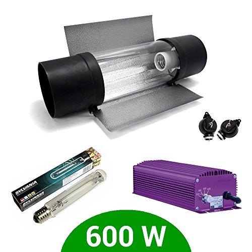E-Kit Beleuchtung Dimmable Lumatek 600W + Sylvania GroLux SHP + Cooltube ProTube