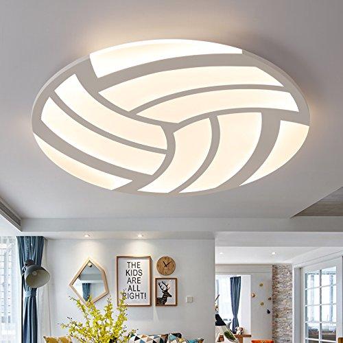 BRFVCS ceiling light Minimalistischen modernen Wohnzimmer led Deckenleuchte warme romantische Zimmer light boy Kinder volleyball Zimmer Restaurant Lampen, 60 CM - keine Polarität-69 W dimmen