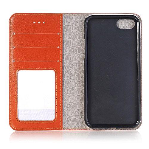 iPhone Case Cover IPhone 6s 7 Plus Case, 2 en 1 étui en cuir PU Housse de protection multifonctionnelle avec fonction de portefeuille pour Apple iPhone 6s 7 Plus ( Color : Blue , Size : Iphone6s ) Brown