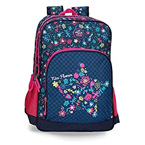 51GXBGlc08L. SS300  - Mochila doble compartimento adaptable a carro Movom Nice Flowers