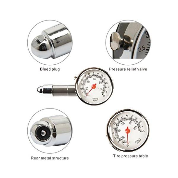Tumao Medidor de Presión Neumáticos – Manómetro Presión Ruedas, Medición Rápida y Precisa, para Medidores de Presión de…