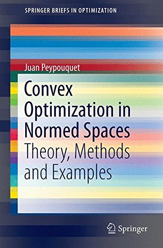 Convex Optimization in Normed Spaces (SpringerBriefs in Optimization) par Juan Peypouquet