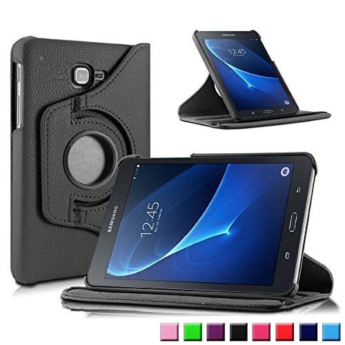 Schutzhülle für Samsung Galaxy Tab A SM-T580 SM-T585 10.1 Zoll Smart Slim Case Book Cover Stand Flip (Schwarz) NEU A6-tablett
