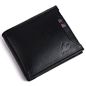 Hornbull Men's Black Rigohill Leather Wallet