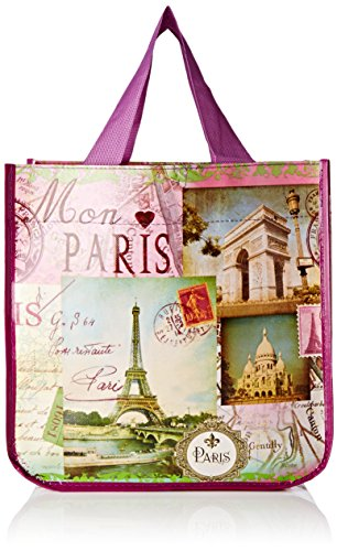 9331SOUV FoxTrot Small Shopping Bag-Non Woven-Paris Vintage 30 x 18 x 30 cm