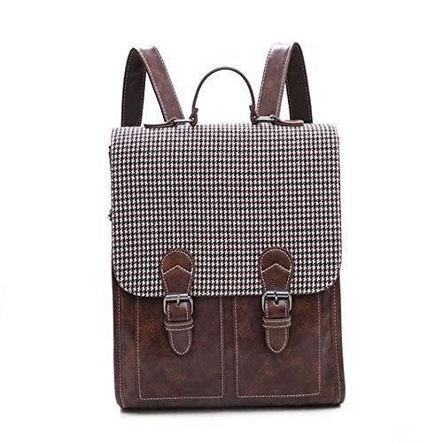 ZGQA Frauen rucksäcke pu Leder Laptop Rucksack umhängetaschen Daypack for Frauen weiblichen Rucksack Feminine Mochila bagpack (Color : Dark Brown, Size : M) -
