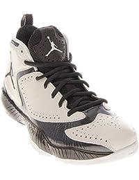Mens Air Jordan 2012 zapatos de una pelota de baloncesto Negro / Varsity Red / antracita 508318-010
