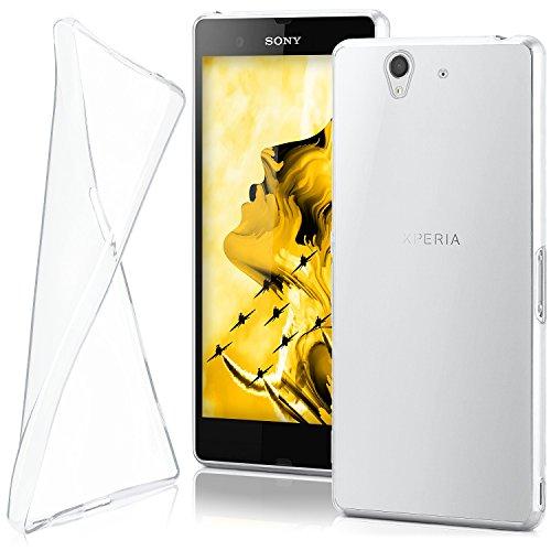 OneFlow Schutzhülle für Sony Xperia Z Hülle Silikon Case aus 0,7mm dünnem TPU | Zubehör Cover zum Handy Schutz | Handyhülle Bumper Tasche Durchsichtig Transparent in Farblos