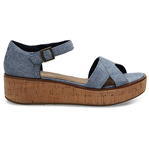 0f30b3907e9 New Toms Harper Wedge Blue Slub Chambray 7.5 Womens Shoes - Buy Online in  Oman.