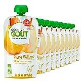 Good Goût - BIO - Gourde de Purée de Fruits Poire Williams dès 4 Mois 120 g