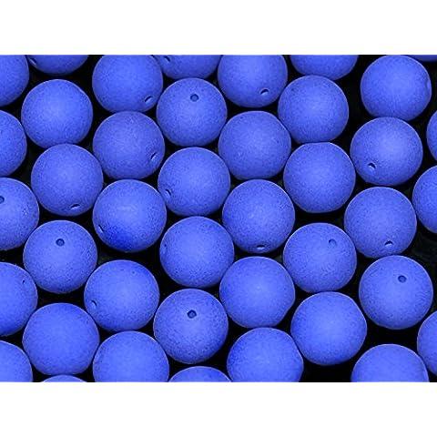 24 pezzi Ceco Perle pressate di vetro Estrela Neon (UV