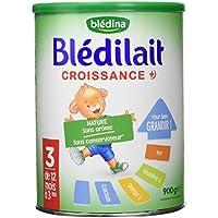 Blédina Blédilait Lait bébé Croissance de 12 Mois à 3 Ans 900 g - Lot de 3