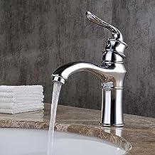 Pumpink Cuarto de baño de estilo europeo de lavabo de latón Mezclador de grifo Todos los de bronce cocina de lavado aerosol de lavado de manos caliente y fría grifo