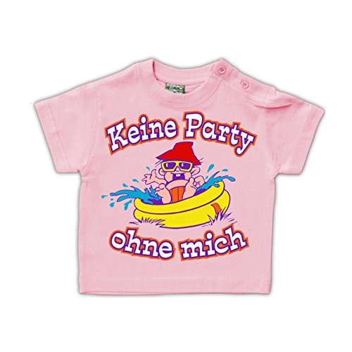 Baby T-Shirt Keine Party ohne mich Rosa