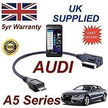 AUDI A5 Serie 2008+ AMI MMI Cable para Blackberry Z10 4F0051510M MICRO USB Cable