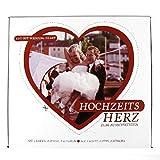 Tuch mit Herz Motiv Hochzeitsherz zum ausschneiden inklusive 2 Scheren und 2 Stifte. Tuch 2 Meter x 1,8 Meter