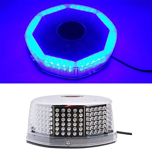 Universel Super Lumineux 240 LED 12 V de voiture Montage magnétique ronde LED strobe Light Car Balise d'urgence avertissement Hazard Bleu clair