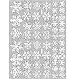 Xinlie Vetrofanie Fiocco di Neve Natale Vetrofanie Adesivi Murali Fai da te Finestra Decorazione Vetrofanie Adesivi di Natale a Forma di Fiocco di Neve Adesivi elettrostatici Snowflake *2(totale 54)