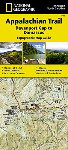 Appalachian Trail, Davenport Gap to Damascus [north Carolina, Tennessee] (National Geographic Topographic Map Guide) (Karte North Von Carolina)
