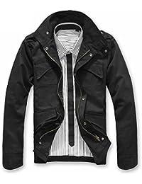 Naughtyman Manteau militairee en coton de la grande taille pour hommes, occasionnel et chic