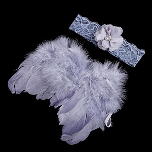 Kostüm Fotografin - Provide The Best Baby Newborn Winkel Feder-Flügel und Blumen-Stirnband-Fotografie Prop-Klage-Kind-Kleidung-Klage