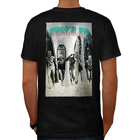 Surfen Riders Traum Surfer Herren NEU Schwarz L T-shirt Zurück | Wellcoda