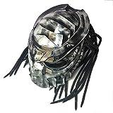SLSMD Vintage Motorrad voller Gesicht Helm, Jagged Warrior Predator Motocross Helm, Reiten...