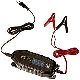 Hama Automatik Batterie-Ladegerät (für Auto, Motorrad, Boot, 230V, für AGM-/Li-Ion-/Blei-Säure-/Nass-/Gel-Batterien, Erhaltungsladung, Tiefentladung geeignet, inkl. Polklemmen, Autobatterie) schwarz