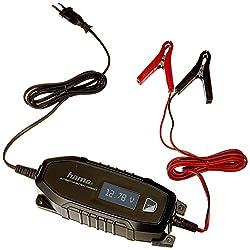 Hama Autobatterie-Ladegerät (für Auto, Motorrad, Boot, 6/12V, für AGM | Li-Ion | Blei-Säure | Nass | Gel-Batterien, Erhaltungsladung, Tiefentladung, Pol-Klemmen, Automatik KFZ-Batterieladegerät)
