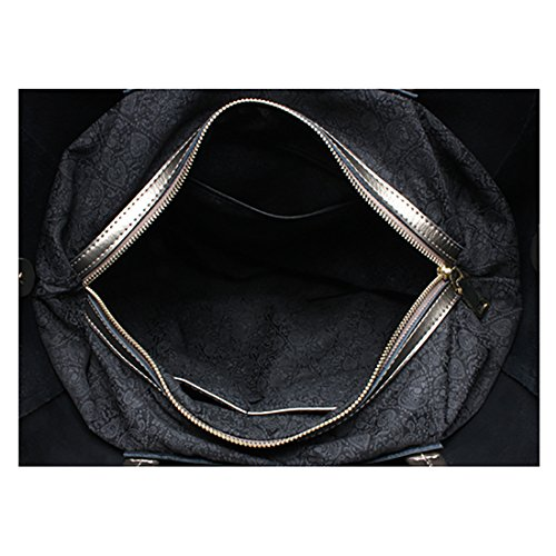 Plover Donna Pelle di mucca borsetta Borse a tracolla Borsa Crossbody Tote Bag Grande capacità Bronze