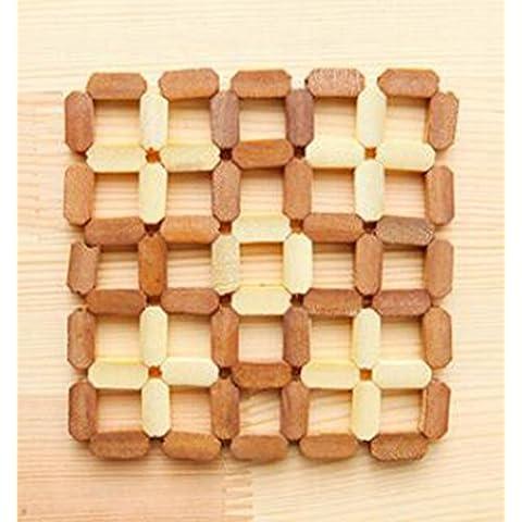 Cinny hollow bamboo bowl pad pad cucina giapponese ispessimento isolamento scottatura prova pad.