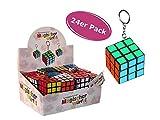 Cepewa 1 Box (24 Stück) Schlüsselanhänger Magischer Würfel - Give away, Kindergeburtstags Mitgebsel etc.