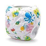 Storeofbaby Pannolini di stoffa per neonati Copri-slip riutilizzabili regolabili per 0-36 mesi