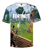 SIMYJOY Fortnite Fans T-Shirt 3D Druck Tops Digitaldruck Porträt Tee Coole und durchlässige Oberteile Weiche Streetwear für Männer Jungen Damen M