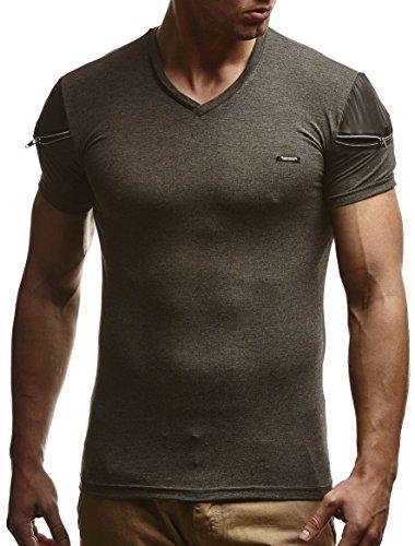 LEIF NELSON -  T-shirt - Uomo Anthrazit