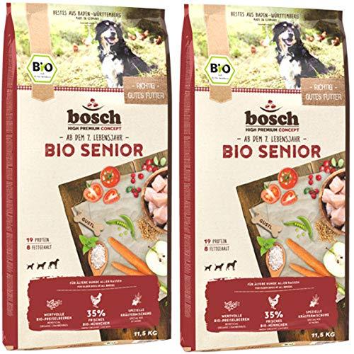 Bosch 2 x 11,5 kg Bio Senior Hühnchen & Preiselbeeren