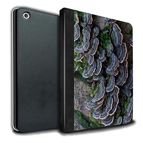 STUFF4 PU-Leder Hülle/Case/Brieftasche für Apple iPad 9.7 (2017) tablet / Fungus Muster / Pflanzen/Blätter Kollektion Haut Fung