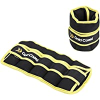 Gold Coast Adjustable Ankle and Wrist Weights with Adjustable Strap - Resistance Strength Training | Free 2 Year Warranty